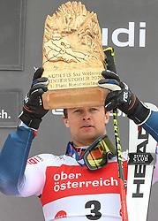 26.10.2019, Hannes Trinkl Weltcupstrecke, Hinterstoder, AUT, FIS Weltcup Ski Alpin, Riesenslalom, Herren, Siegerehrung, im Bild Alexis Pinturault (FRA) SIEGER // Alexis Pinturault of France WINNER during the winner ceremony for the men's Giant Slalom of FIS ski alpine world cup at the Hannes Trinkl Weltcupstrecke in Hinterstoder, Austria on 2019/10/26. EXPA Pictures © 2020, PhotoCredit: EXPA/ Erich Spiess