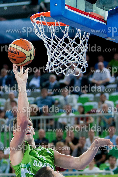 Gasper Vidmar of Slovenia during basketball match between National teams of Finland and Slovenia in 2nd Round at Day 13 of Eurobasket 2013 on September 14, 2013 in SRC Stozice, Ljubljana, Slovenia. (Photo By Urban Urbanc / Sportida)
