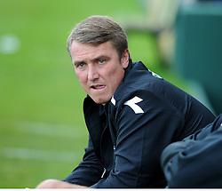 Birmingham City Manager, Lee Clark   - Photo mandatory by-line: Alex James/JMP - Tel: Mobile: 07966 386802 25/08/2013 - SPORT - FOOTBALL - Cardiff City Stadium - Cardiff -  Cardiff City V Manchester City - Barclays Premier League