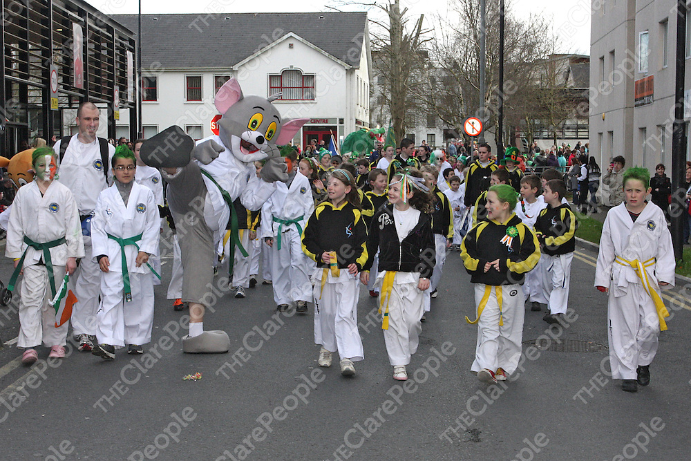 Shannon Taekwon-Do group march in the Shannon Parade.- Photograph by Flann Howard