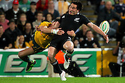 Zac Guildford in action during the Tri Nations and Bledisloe Cup Rugby Union Test Match. Australian Wallabies v New Zealand, Suncorp Stadium, Brisbane, Australia on Saturday 27 August 2011.  Photo: Patrick Hamilton/Photosport
