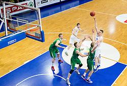 Gezim Morina of Helios Domzale during basketball match between KK Helios Domzale and KK Union Olimpija Ljubljana in 2nd Semifinal match of Telemach League 2013/14, on May 15, 2014 in Dvorana Komunalnega centra, Domzale, Slovenia. Photo by Vid Ponikvar / Sportida