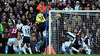 Photo: Daniel Hambury.<br />Tottenham Hotspur v West Ham Utd. The Barclays Premiership. 20/11/2005.<br />West Ham's Anton Ferdinand (hidden) heads in the equaliser.