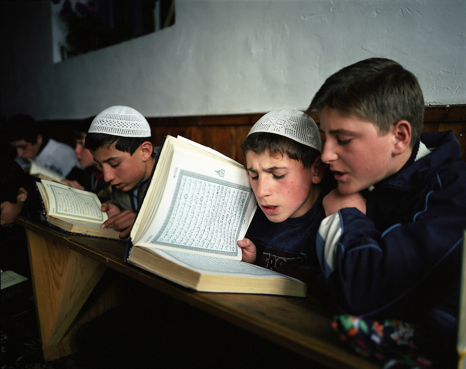 The very religious and traditional families send their sons and daughters to Koran school in the mosque a couple of times in the week. During communism times Koranic School was banned.