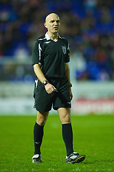 WARRINGTON, ENGLAND - Thursday, March 12, 2009: Referee S J Rushton takes charge during the FA Premiership Reserves League (Northern Division) match between Liverpool and Manchester United at the Halliwell Jones Stadium. (Photo by David Rawcliffe/Propaganda)
