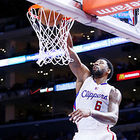 03 December 2014: Los Angeles Clippers center DeAndre Jordan (6) goes for the dunk during the Los Angeles Clippers 114-86 victory over the Orlando Magic, at the Staples Center, Los Angeles, California, USA.