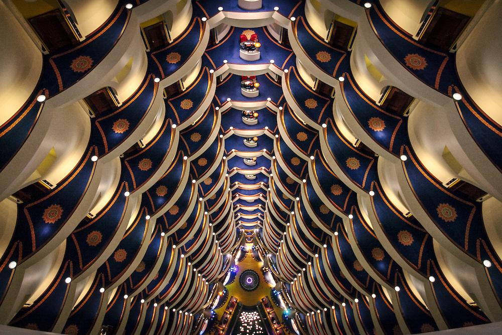 DUBAI, UAE — APRIL 25, 2013: Inside the Burj Al Arab Hotel.