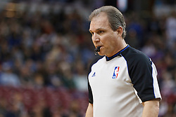March 18, 2011; Sacramento, CA, USA;  NBA referee Ron Garretson (10) during the first quarter between the Sacramento Kings and the Philadelphia 76ers at the Power Balance Pavilion. Philadelphia defeated Sacramento 102-80.