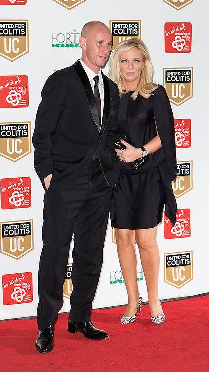 © Licensed to London News Pictures . 27/03/2014 . Manchester , UK . Guests arrive at a gala dinner at Manchester United Football Club in support of United for Colitis , in aid of Crohn's And Colitis UK . Photo credit : LNP
