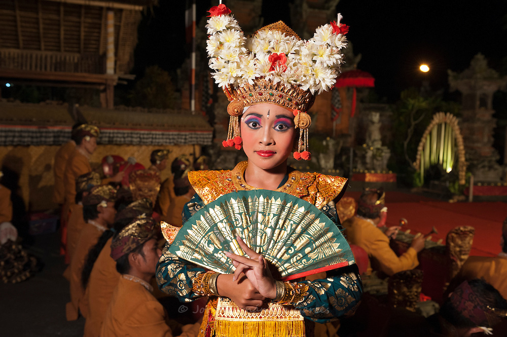 Balinese dancer after a performance in Padangtegal temple, Ubud, Bali, Indonesia