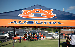 Auburn tent prior to the Chick-fil-A Kickoff Game at  the Mercedes-Benz Stadium, Saturday, September 1, 2018, in Atlanta. (AJ Reynolds via Abell Images for Chick-fil-A Kickoff)
