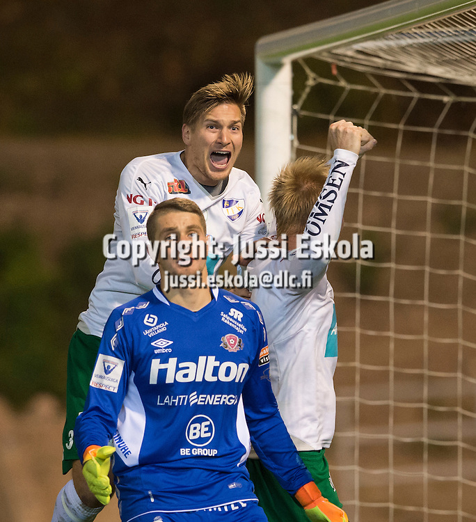 Kristian Kojola. FC Lahti - IFK Mariehamn. Veikkausliiga. Lahti 17.10.2016. Photo: Jussi Eskola