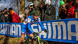 Martin HARING (61,SVK), 4th lap at Men UCI CX World Championships - Hoogerheide, The Netherlands - 2nd February 2014 - Photo by Pim Nijland / Peloton Photos