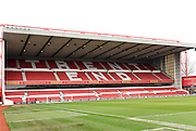 Nottingham Forest's Trent End of the City Ground ahead of the Sky Bet Championship match between Nottingham Forest and Bristol City at the City Ground, Nottingham, England on 27 February 2016. Photo by Jon Hobley.