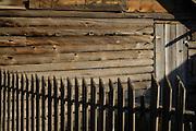 Fence, Log Fence, Wood Fence, Picket Fence, Cabin, Log Cabin, Salmon, Idaho