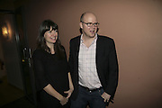 Toby Young and his wife Caroline,  Book launch for ' What Did I Do last night' by Tom Sykes. Century Club. Shaftesbury Ave. London. 16 January 2006. -DO NOT ARCHIVE-© Copyright Photograph by Dafydd Jones. 248 Clapham Rd. London SW9 0PZ. Tel 0207 820 0771. www.dafjones.com.
