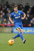 Jon Meades of AFC Wimbledon during the Sky Bet League 2 match between AFC Wimbledon and Luton Town at the Cherry Red Records Stadium, Kingston, England on 13 February 2016. Photo by David Vokes.