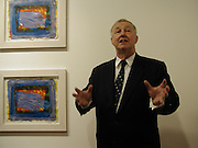 Sir Terence  Conran, Private view of 40 limited edition prints especially created by Howard Hodgkin for Elton John AIDS Foundation, Alan Christea Gallery, 6 February 2003. All proceeds from the evening benefit Elton John AIDS Foundation.© Copyright Photograph by Dafydd Jones 66 Stockwell Park Rd. London SW9 0DA Tel 020 7733 0108 www.dafjones.com