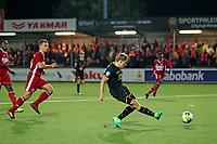 Jonas Svensson of AZ Alkmaar scores his side's fourth goal to make it 0-4