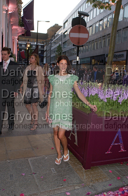Liberty Ross, Asprey Store relaunch party after rebuilding. New Bond St. 18 May 2004. ONE TIME USE ONLY - DO NOT ARCHIVE  © Copyright Photograph by Dafydd Jones 66 Stockwell Park Rd. London SW9 0DA Tel 020 7733 0108 www.dafjones.com