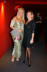 "Left to right, MISS BEVERLEY BLOOM and CHRISTINA KNUDSEN at the 10th annual British Red Cross London Ball.  This years ball theme was Indian based - ""Yaksha - Yakshi: Doorkeepers to the Divine"" and was held at The Room, Upper Ground, London on 1st December 2004.  Proceeds from the ball will aid vital humanitarian work, including HIV/AIDS projects that the Red Cross supports in the UK and overseas.<br />