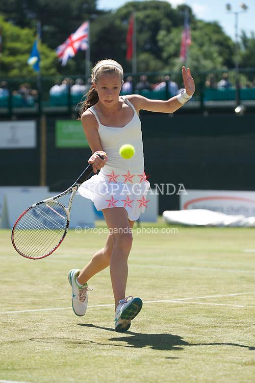 LIVERPOOL, ENGLAND - Sunday, June 20, 2010: Alexandra Borg on day five of the Liverpool International Tennis Tournament at Calderstones Park. (Pic by David Rawcliffe/Propaganda)