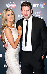 © Licensed to London News Pictures. 08/05/2014, UK. Sarah Connolly & Alex Cuthbert, BT Sport Industry Awards 2014, Battersea Evolution, London UK, 08 May 2014. Photo credit : Brett D. Cove/Piqtured/LNP