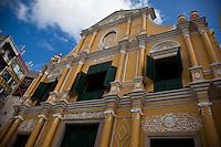 The grand St Dominics Church near Senado Square in historic Macau.