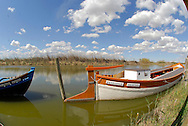 Albufera Nature Preserve, Tradtional fishing boats. The area offers boat rides to tourists.