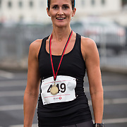 25.08. 2017.                                                      <br /> Almost 200 UL Hospitals Group staff, past and present, and members of the public completed the annual 5k Charity Run/Walk on Friday August 25th in Limerick.<br /> <br /> Women second place, Maeve Kavanagh.<br /> <br /> <br /> Everybody who participated also raised funds for Friends of Ghana, an NGO formed last year by UL Hospitals Group and its academic partner the University of Limerick to deliver medical training programmes in the remote Upper West Region of Ghana. Picture: Alan Place