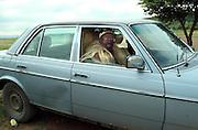 Zulu InDuna Mayeza arrives in his Mercedes on the day of the battle. Isandlwana. Zululand. .©Zute Lightfoot.DVD0018