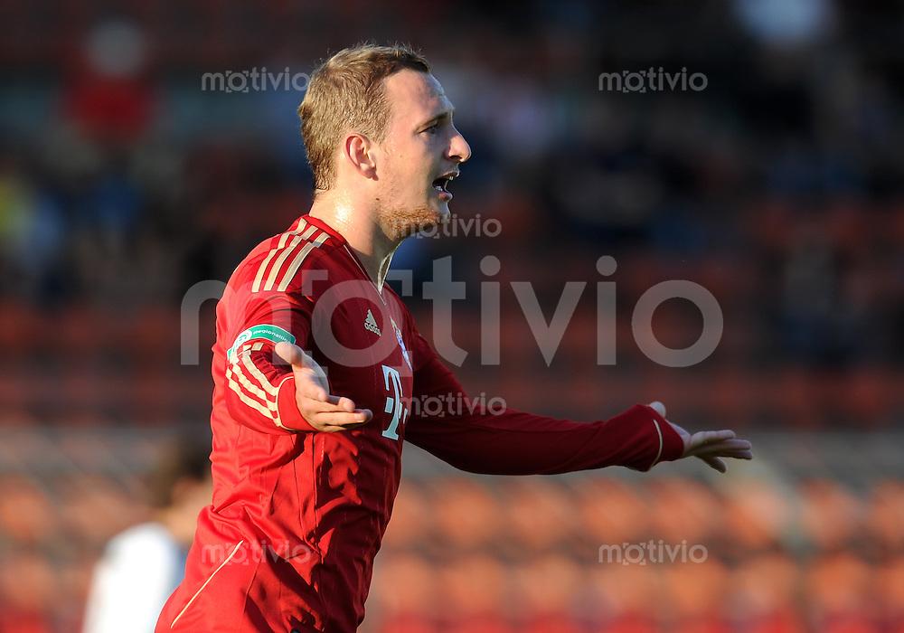 FUSSBALL  Regionalliga Sued     SAISON  2011/2012     12.08.2011 FC Bayern Muenchen II - FC Memmingen Manuel Fischer  (FC Bayern II)