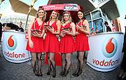 Vodafone girls at the Vodafone Red Room during 2012 Vodafone Music Awards, Vector Arena, Auckland. Thursday 1st November 2012. Photo: Simon Watts / photosport.co.nz