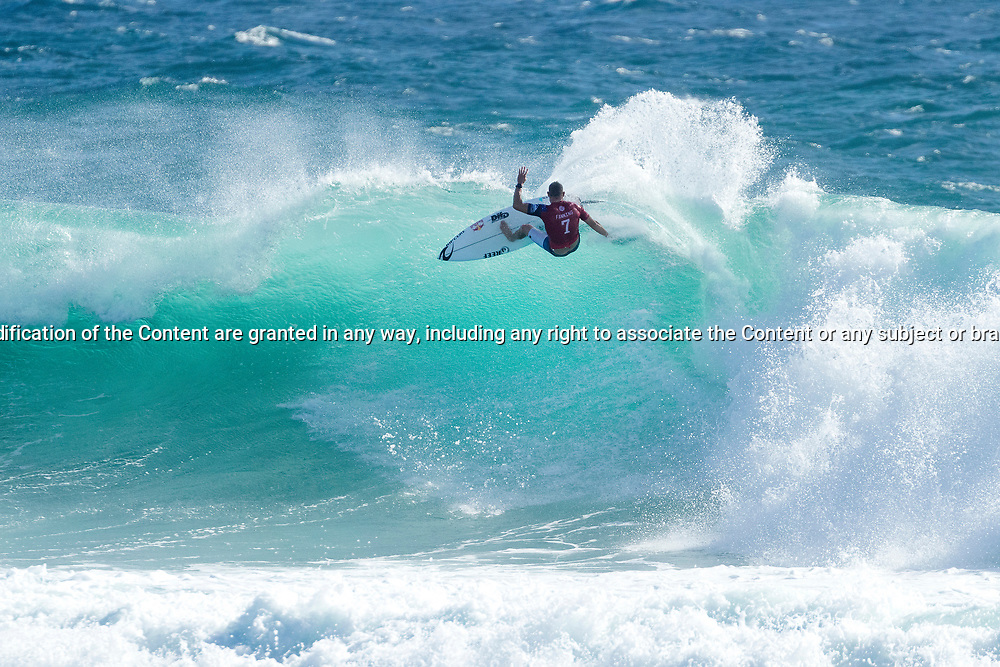 Mick Fanning (AUS) advances to Round 4 of the Quiksilver Pro Gold Coast after winning Heat 2 of Round 3 at Snapper Rocks, Gold Coast, QLD, Australia. . FOR EDITORIAL NEWS USE ONLY