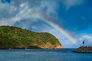 Incredble Rainbow over an islet of Ofu Island, Manu´a island group, American Samoa, South Pacific