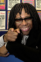 Opening night of the Best Disco In Town tour with Nile Gregory Rodgers musician, producer, and guitarist and co-founding member of the band Chic at at Sheffields Hallam FM Arena<br /> 4 October 2003 .<br /> <br /> image copyright Paul David Drabble