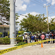 HOLLYWOOD, FL - [SEPTEMBER 13, 2017]: <br /> City officials and medical staff  address the media outside of a rehabilitation center in the city where 6 patients died on September 12, 2017 in Hollywood, United States. (Photo by Angel Valentin/Getty Images)