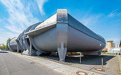Historic wind tunnel  at Adlershof Science and Technology Park  Park in Berlin, Germany