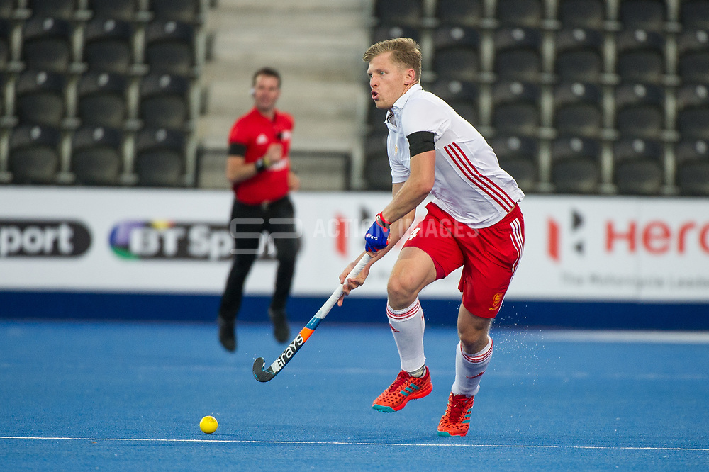 England's Ollie Willars. England v China - Hockey World League Semi Final, Lee Valley Hockey and Tennis Centre, London, United Kingdom on 15 June 2017. Photo: Simon Parker
