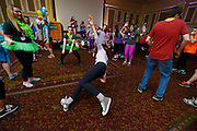 The BobcaThon took place on February 14th 2015. Participants danced fro twelve hours, while performing team and individual games. Participants danced in benefit for seriously-ill children and their families at the Ronald McDonald House in Central Ohio. Photo by Olivia Wallace