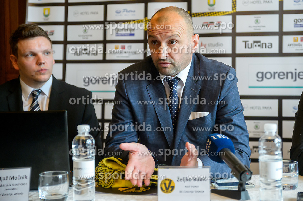 Zeljko Babic during press conference when Zeljko Babic signs as new head coach of RK Gorenje Velenje, on April 7th, 2017 in Velenje, Slovenia. Photo by Martin Metelko / Sportida