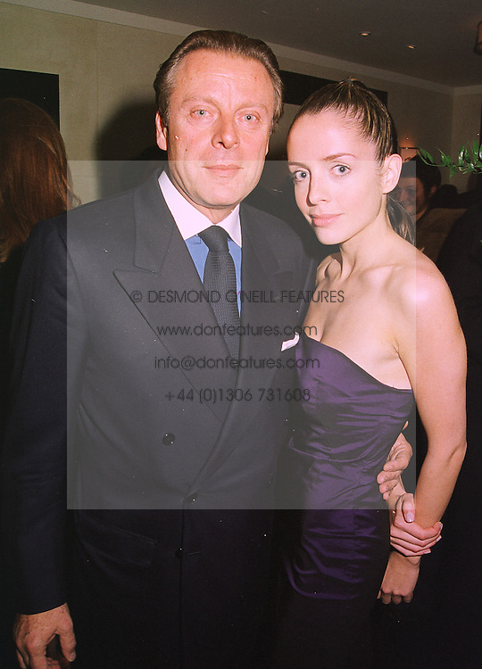 MR RICCARDO MAZZUCCHELLI former husband of Ivana Trump and MISS GISELE ROMAN, at a dinner in London on 29th September 1998.MKK 26