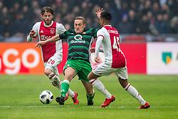 21-01-2018 NED: AFC Ajax - Feyenoord, Amsterdam<br /> Ajax was met 2-0 te sterk voor Feyenoord / Jens Toornstra #28 of Feyenoord