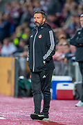Aberdeen manager Derek McInnes during the Betfred Scottish Football League Cup quarter final match between Heart of Midlothian FC and Aberdeen FC at Tynecastle Stadium, Edinburgh, Scotland on 25 September 2019.