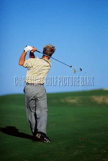 Per Ulrik Jonansson mid iron swing sequence down line..EDITORIAL USE ONLY-NO MODEL RELEASE.