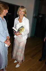 SANDRA HOWARD at a party to celebrate the publication of Glass Houses by Sandra Howard held at Tamesa, Oxo Tower Wharf, Barge House Street, London SE1 on 5th September 2006.<br />