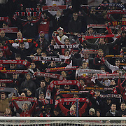 New York Red Bulls fans during the New York Red Bulls V D.C. United Major League Soccer, Eastern Conference Semi Final 2nd Leg match at Red Bull Arena, Harrison. New Jersey. USA. 8th November 2012. Photo Tim Clayton