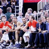 25 January 2016: Utah Jazz forward Trey Lyles (41), Utah Jazz center Rudy Gobert (27) are seen on the bench during the Detroit Pistons 95-92 victory over the Utah Jazz, at the Vivint Smart Home Arena, Salt Lake City, Utah, USA.