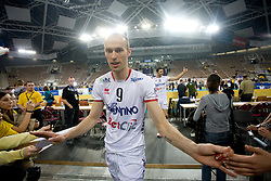 Andrea Sala of Trentino after the 2nd Semifinal match of CEV Indesit Champions League FINAL FOUR tournament between ACH Volley, Bled, SLO and Trentino BetClic Volley, ITA, on May 1, 2010, at Arena Atlas, Lodz, Poland. Trentino defeated ACH 3-1. (Photo by Vid Ponikvar / Sportida)