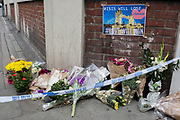 In the aftermath of the London Bridge and Borough Market terrorist attack the previous night, flowers are starting to appear a half a mile from the crime scene where 7 people were killed and many others injured (Sunday's total). On Sunday 4th June 2017, in the south London borough of Southwark, England.
